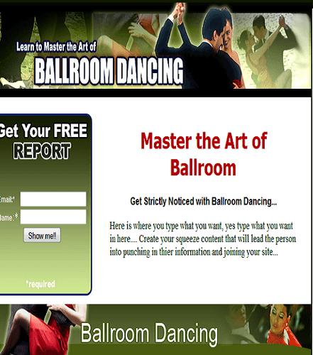 Ballroom Dancing Templates