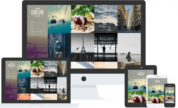 Coastline Showcase Your Work or thoughts in the most elegant way possible with Coastline Portfolio theme for WordPress