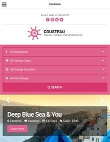 Cousteau beautiful premium WordPress theme