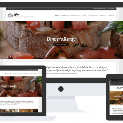 Igloo WordPress theme bars & restaurants
