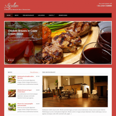 Lucullan WordPress theme for restaurants