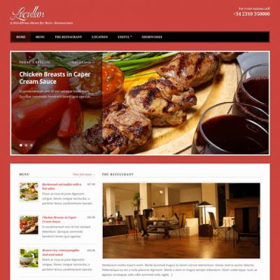 Lucullan WordPress theme for restaurants