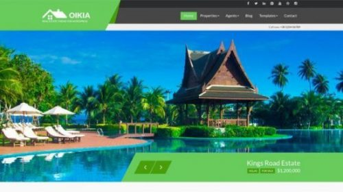 Oikia first Real estate WordPress theme