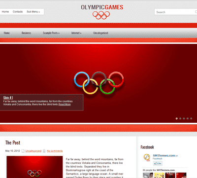 Olympic Fitness Health WordPress theme