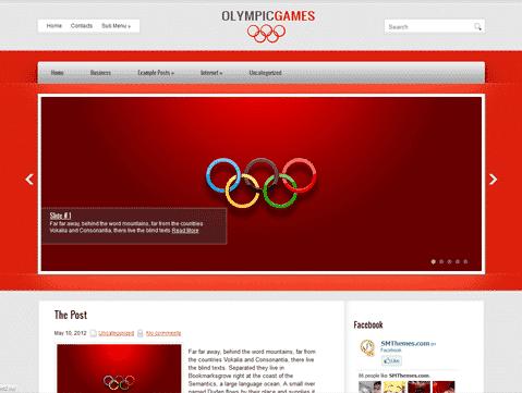 Olympic Fitness Health WordPress theme