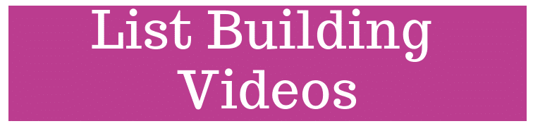 Video List Builder 7 BRAND NEW List Building Videos Almost 30 Minutes of Expert Training!