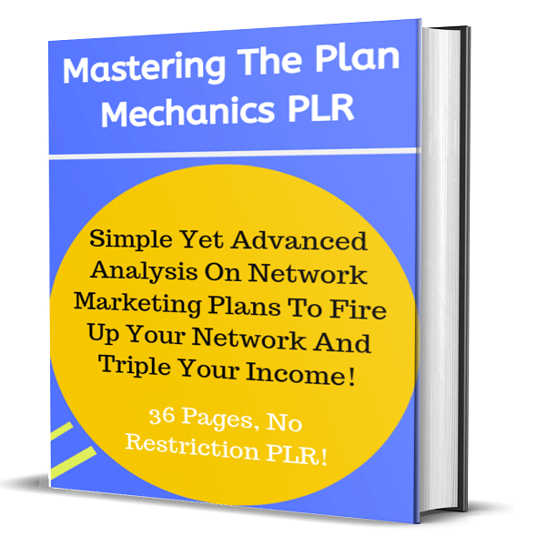 Mastering The Plan Mechanics eBook 36 Pages No Restriction PLR