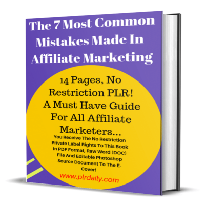 The 7 Most Common Mistakes Made In Affiliate Marketing Ebook