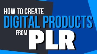 Private Label Digital Products Use existing PLR products to help develop and create your own digital product. I showed a simple method of rewriting PLR articles to create chapters for a gardening