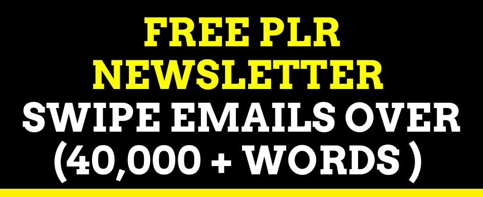 PLR Newsletter Swipe Emails over 40000 Words