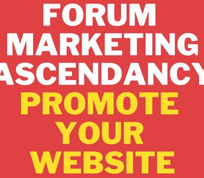 Forum-Marketing-Ascendancy-Promote-your-Website